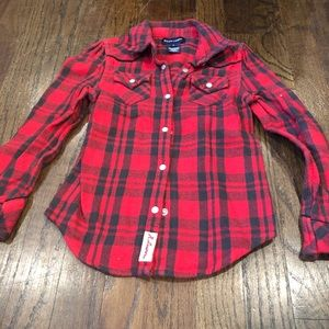 Amazing fall flannel Ralph Lauren shirt 🍁 size 6